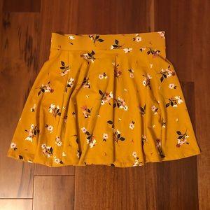 Mustard fall A line skirt